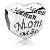 PANDORA do coração da Mãe Charms