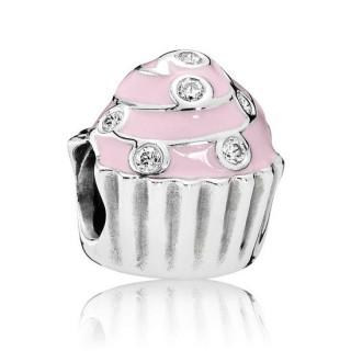 PANDORA doce Rosa Cupcake Charms