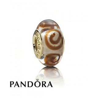 Pandora 14 ct Marrom Espiral Charms