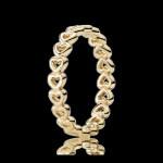 Pandora 14K Amarelo Dourado Linked Amor empilhável Aneis
