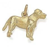 Pandora 14kt Dourado grande cão Labrador Charms