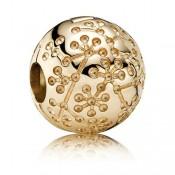 Pandora 14kt Floral Lucerne - Clip Charms