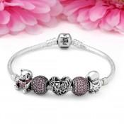 Pandora Amor de A mãe da filha Rosa Charms Pulseira
