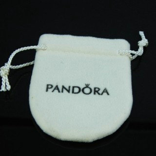 Pandora Branco sacos de pano Joias Box