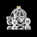 Pandora Carruagem de abóbora da Disney Cinderela Charms Contas