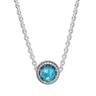 Pandora Céu Azul radiante Corações Colares