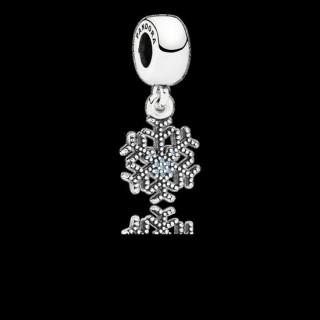 Pandora Disney Mickey Sparkling do floco de neve Charms