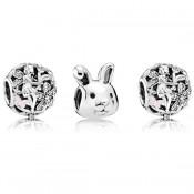 Pandora Easter Rabbit Notável Charms Set