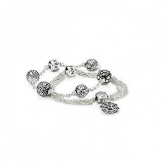 Pandora Elegance Capturado Inspirado Prata Pulseira