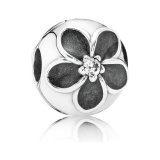 Pandora Enamel Flower Clipe Charms
