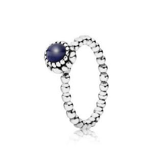Pandora Flores de aniversário Lapis Lazuli Setembro Aneis