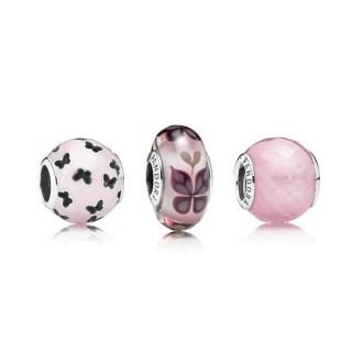 Pandora Flutter Em Rosa Charms Set