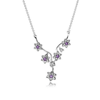 Pandora Forget Me Not, Roxo & Clear CZ Pendant