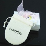 Pandora Joias Fita Rosa Box E sacos de pano