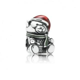 Pandora Natal Teddy Bear Charms Contas