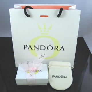 Pandora Papel da fita Joias Box Rosa Sacos E sacos de pano