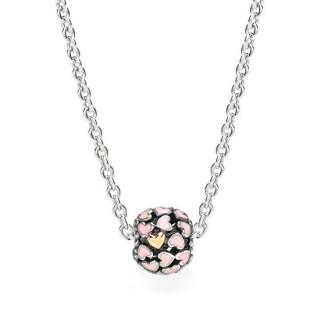 Pandora Perfeito Rosa Corações Colares