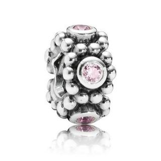 Pandora Prata Círculo Rosa Jogo Spacer Charms