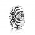 Pandora Prata Cubic Zirconia Mum Spacer Charms