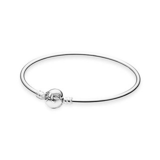Pandora Prata Dainty Bow Bangle
