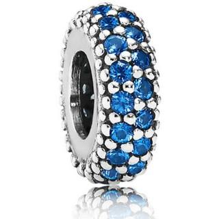Pandora Prata Noite Estrelada Azul Cristal Spacer Charms