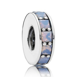 Pandora Prata Opalescent Eternity Spacer Charms