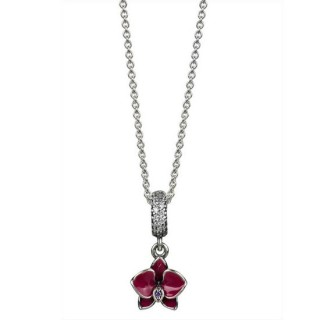 Pandora Prata Orchid Pendant Colares