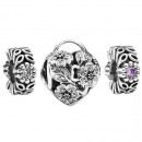 Pandora Prata Secret Garden Charms Set