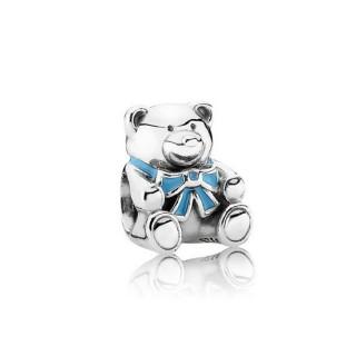 Pandora Prata e Azul do urso de peluche Charms