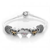 Pandora Pulseira Com Edição Limitada Mães coração encantos
