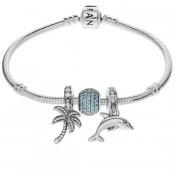 Pandora Pulseira com ilha tropical Charms
