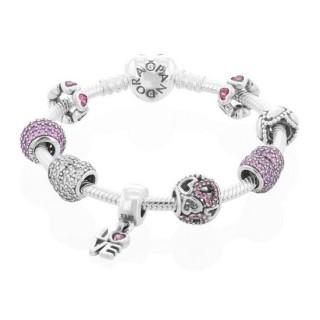 Pandora Pulseira com os Charms de São Valentim