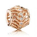 Pandora Rosa Dourado Art Deco Charms