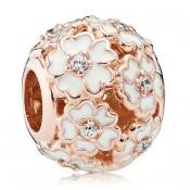 Pandora Rosa Dourado Branco Primrose Prado Charms