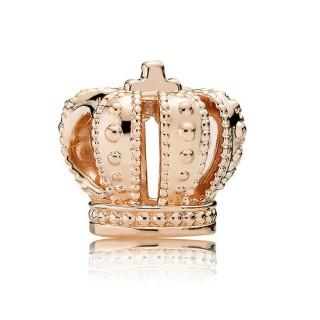 Pandora Rosa Dourado Coroa real
