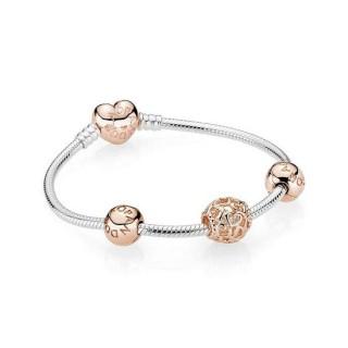 Pandora Rose céu aberto Coração Bundle Pulseira