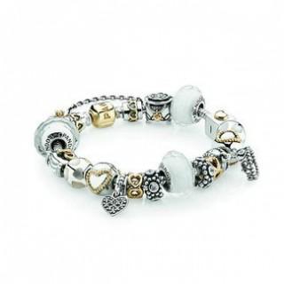Pandora Royal Romance Inspirado Pulseira Branco Charms