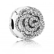 Pandora Shimmering Rose Clipe Charms