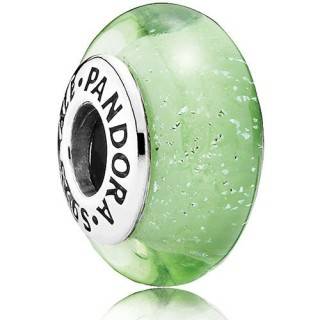 Pandora Sterling Prata DISNEY Tinkerbell Murano Vidro Verde Contas