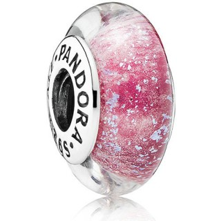 Pandora Sterling Prata DISNEY de Anna Murano Vidro malva Contas