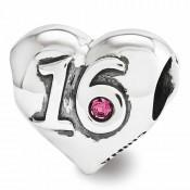 Pandora Sterling Prata Swarovski doce 16 Coração Contas