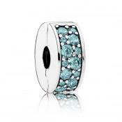 Pandora Teal Brilhante Elegance clip Charms