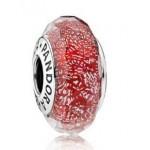 Pandora Vermelho Shimmer Charms Contas