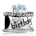 Pandora aniversário com Azul Diamante Charms