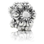 Pandora aniversário de abril Flores Charms - Exibir Sterling Prata do aniversário de abril Flores Contas com Rock Crystal