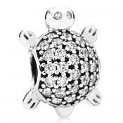 Pandora com Clear Sea Turtle Charms CZ