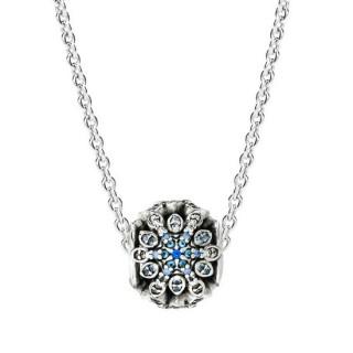 Pandora congelado Snowflake Presente Colares