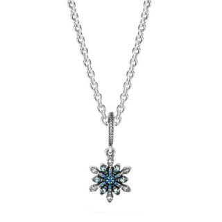 Pandora cristalizada do floco de neve Presente Colares
