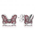 Pandora da Disney Minnie Sparkling Bow Brincos