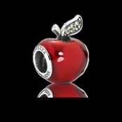Pandora da Disney Neve Branco Da Apple Charms Contas